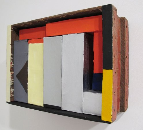 NANCY SHAVER Red, Yellow, Blue Boxes in a Box, 2015