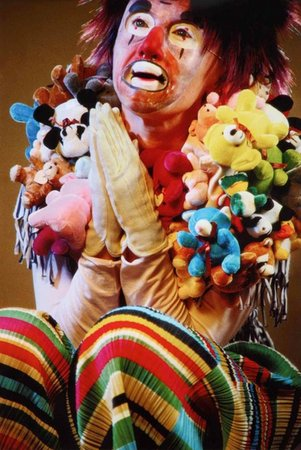 Untitled (stuffed animals clown)