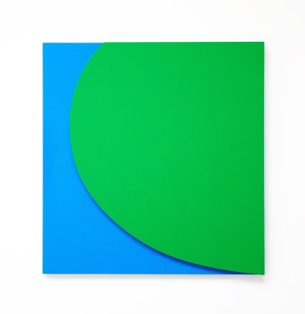 Green Relief with Blue, 2011