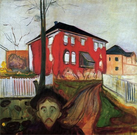 Edvard Munch Red Virginia Creeper