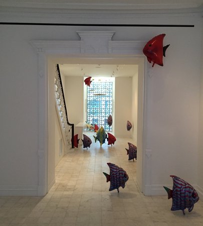 Inside Gladstone Gallery uptown