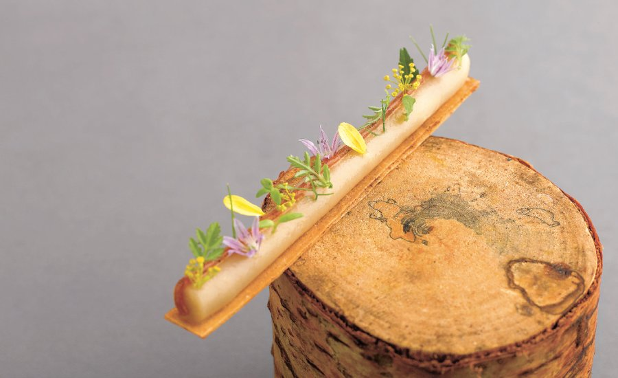 From the World's Tiniest Hoagie to a Wintry Potato Tree, See 10 Sculptural Dishes by André Chiang That Elevate Food to Fine Art