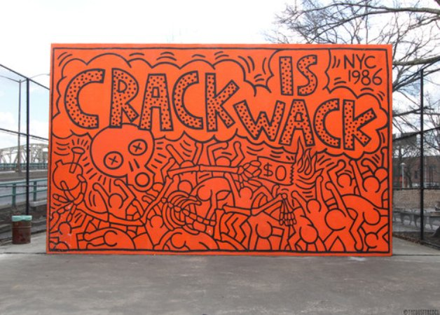 keith haring crack is wack harlem