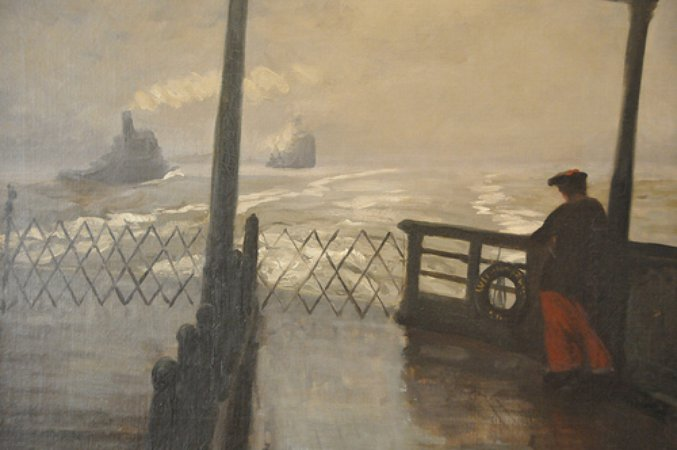 John Sloan Wake of the Ferry