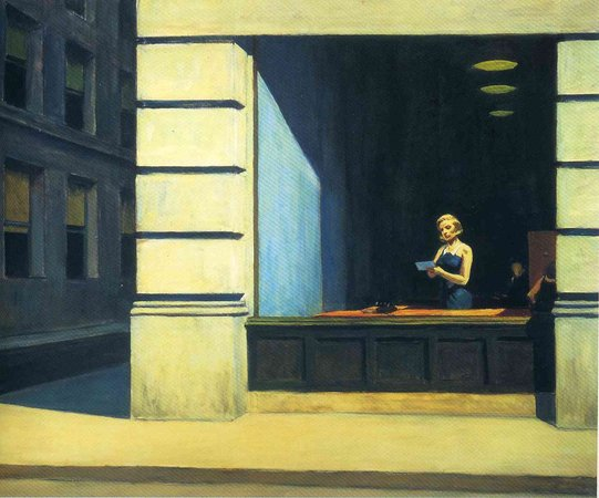 New York Office by EHopper, 1962?
