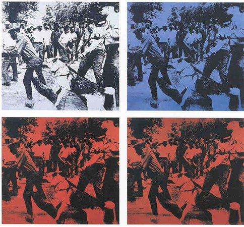Andy Warhol Race Riot 1964