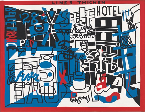 Stuart Davis, the Paris Bit, 1959