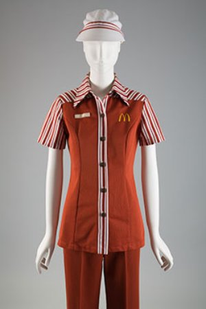 Stan Herman, McDonald's uniform, 1976, on display at the Museum FIT
