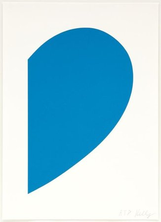 ELLSWORTH KELLY Small Blue Curve, 2013