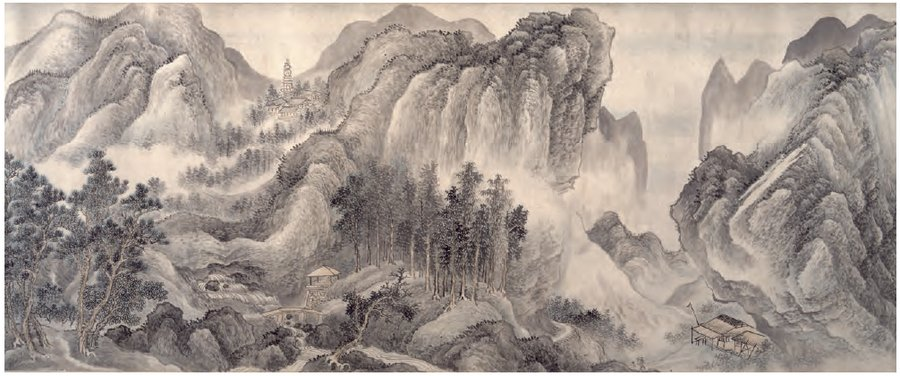 WANG HUI View across Streams and Mountains, 1684