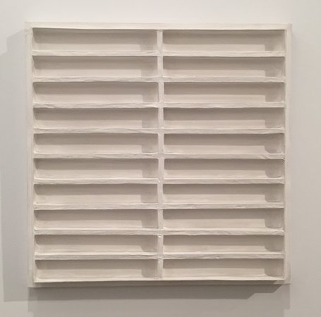 Jan Schoonhoven R72-38 1972 latex paint paper cardboard and wood David Zwirner
