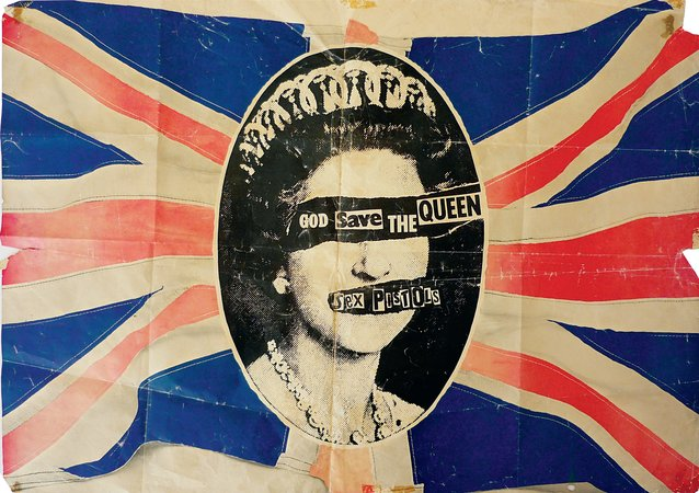 POSTER FOR THE SEX PISTOLS' SINGLE 'GOD SAVE THE QUEEN' Jamie Reid May 1977