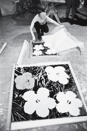 Warhol silk-screening Flowers