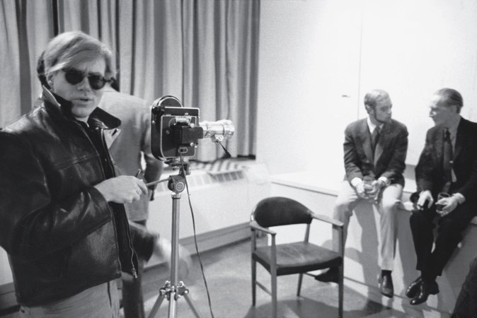 Andy Warhol, Sam Green, and Marcel Duchamp