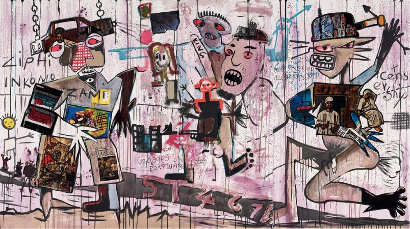 Blessing Ngobeni, Q & A Unresolved Issues (Basquiat in my son), 2015
