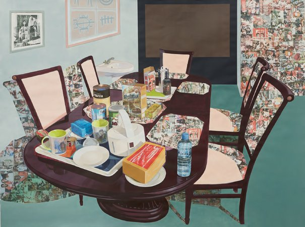 Njideka Akunyili Crosby, Tea Time in New Haven, Enugu, 2013