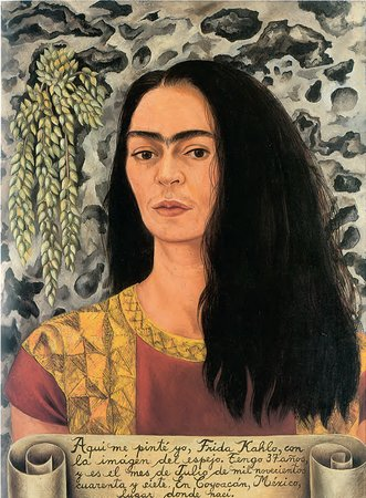 Frida Kahlo, Self-Portrait with Loose Hair, 1947