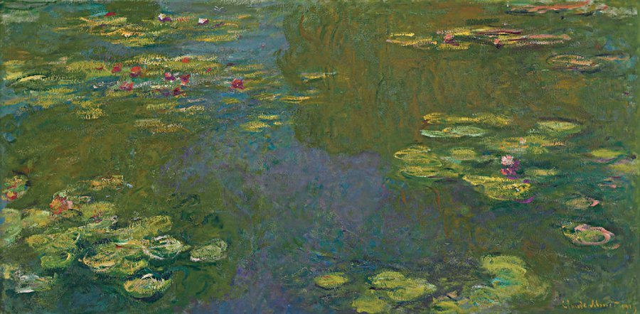 Claude Monet, Le bassin aux nympheas (Waterlilies), 1919