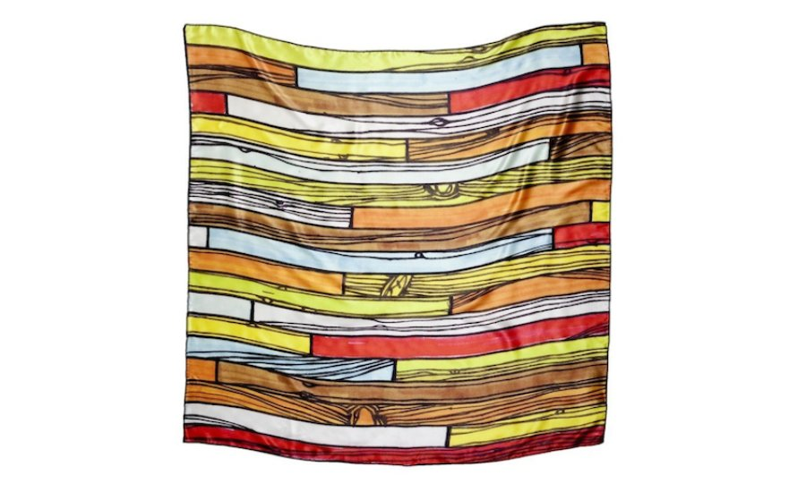 High Art or High Fashion? This Richard Woods Scarf Has the Best of Both Worlds