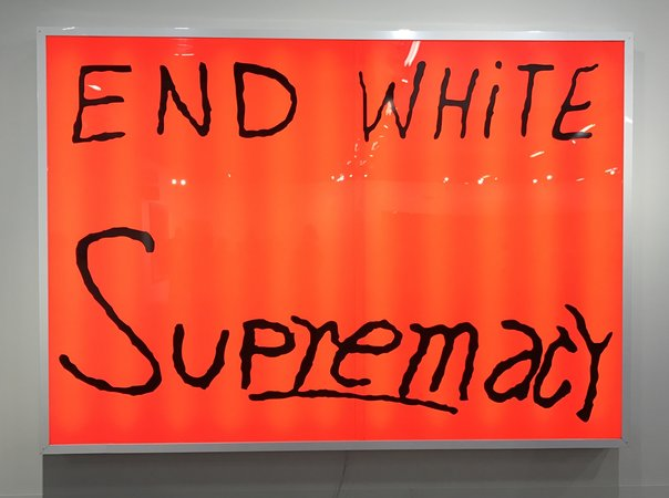 SAM DURANT End White Supremacy, 2008