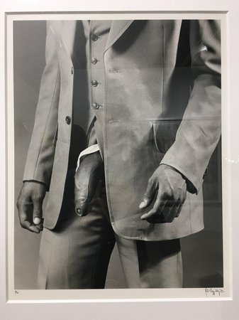 ROBERT MAPPLETHORPE Man in Polyester Suit, 1980