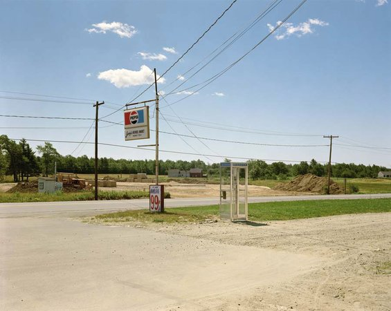 Stephen Shore, U.S. 1, Arundel Maine, July 17, 1974, 1974
