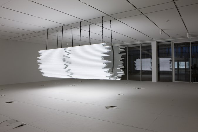 Monica Bonvicini, Light Me Black, 2009 (installation view)