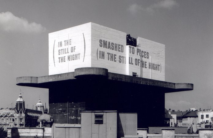 Lawrence Weiner, SMASHED TO PIECES (IN THE STILL OF THE NIGHT), 1991