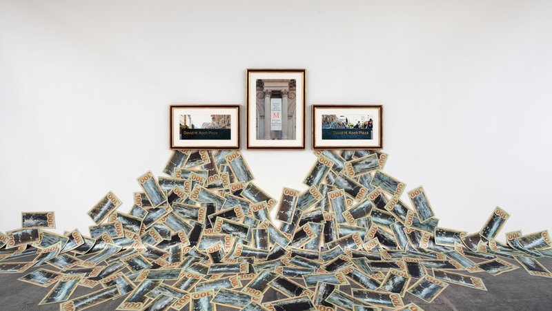"Hans Haacke, ""The Business Behind Art Knows the Art of the Koch Brothers,"" 2014"