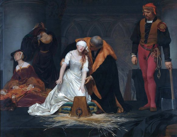Paul Delaroche, Execution of Lady Jane Grey, 1833