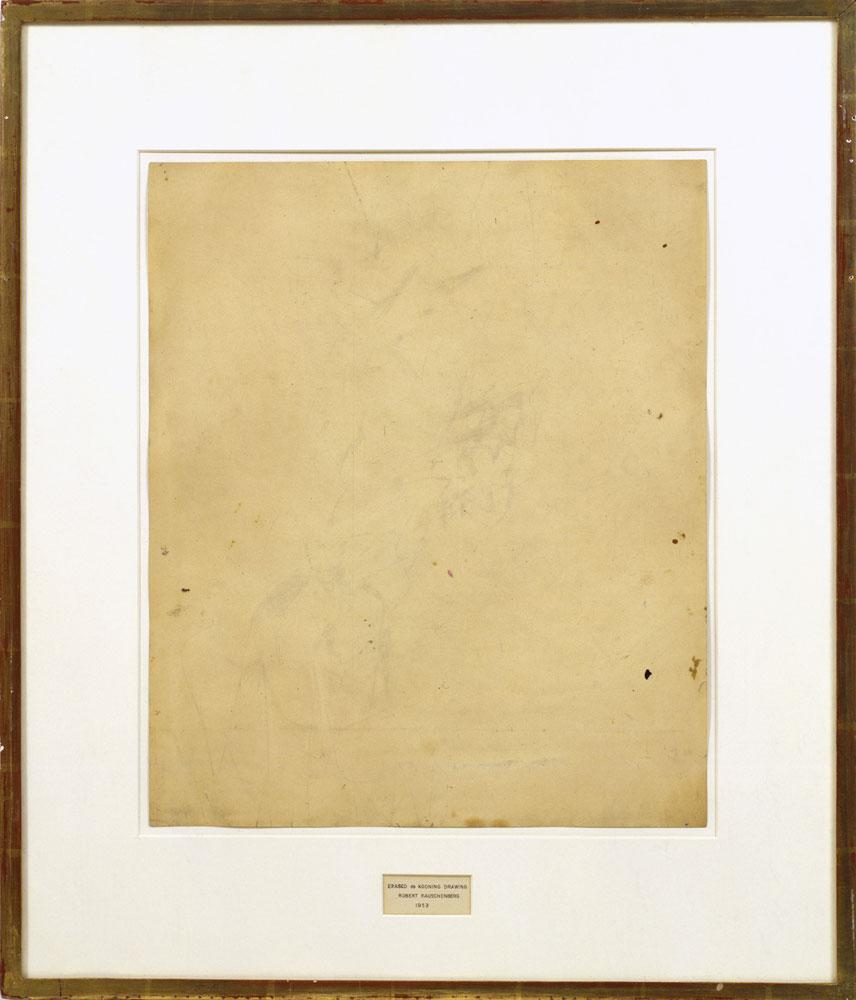 Rauschenberg, Erased de Kooning Drawing, 1953