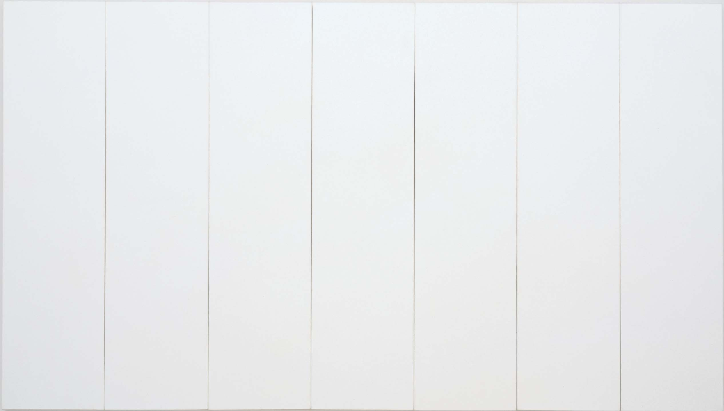 Robert Rauschenberg, White Painting (Seven Panel), 1951