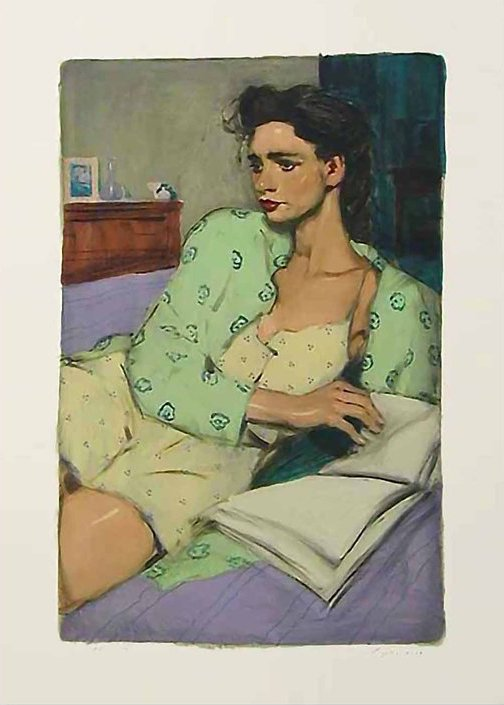 Reading in Bed, 2001