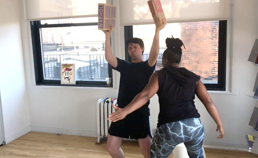 This Artist Hired A Personal Trainer to Whoop His Butt in the Studio—Watch the Work-Out Video, It's Weird