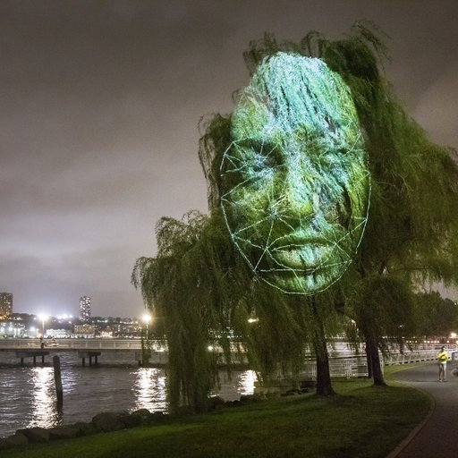Will Artificial Intelligence Mark the Darkest Chapter of Humanity? Tony Oursler Discusses Technology's Role in His Hudson River Installation