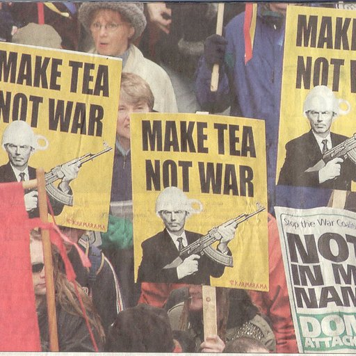 """Make Tea Not War"": Eight Examples of 21st Century Protest Art"