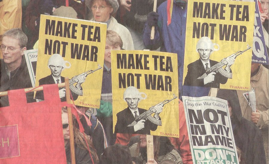 """Make Tea Not War"": Eight Examples of 21st-Century Protest Art"