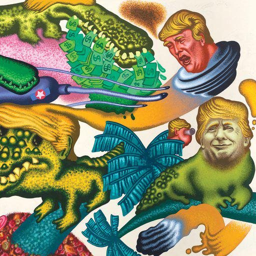Peter Saul's Pop Art pop at US Presidents
