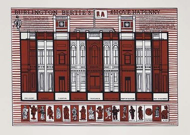 work by Adam Dant - Burlington Bertie's Shove Ha'penny