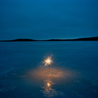 Sparkler on a Frozen Lake art for sale