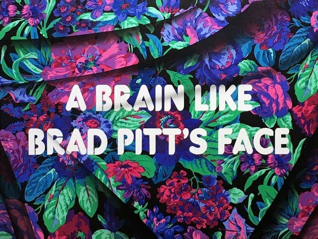 Adam Mars - A Brain Like Brad Pits Face, Painting