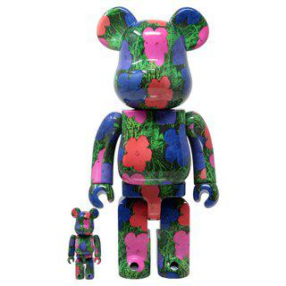 After Andy Warhol, Bearbrick - ANDY WARHOL - FLOWERS 400% & 100%