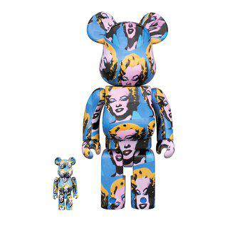 Bearbrick - ANDY WARHOL - MARILYN 400% & 100% art for sale