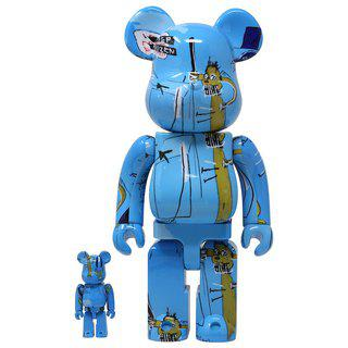 Bearbrick - JEAN-MICHEL BASQUIAT 400% & 100% art for sale