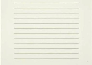 work by Agnes Martin - Untitled