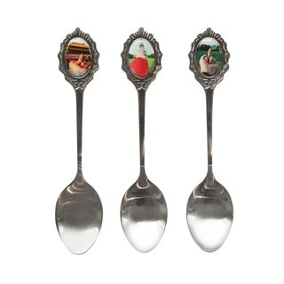 Study of Perspective Souvenir Spoons – Set (3) art for sale