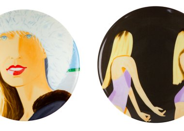 work by Alex Katz - Jessica and Sara Mearns Plate Set