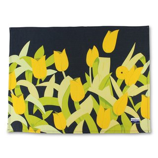 Tulips Linen Tea Towel art for sale