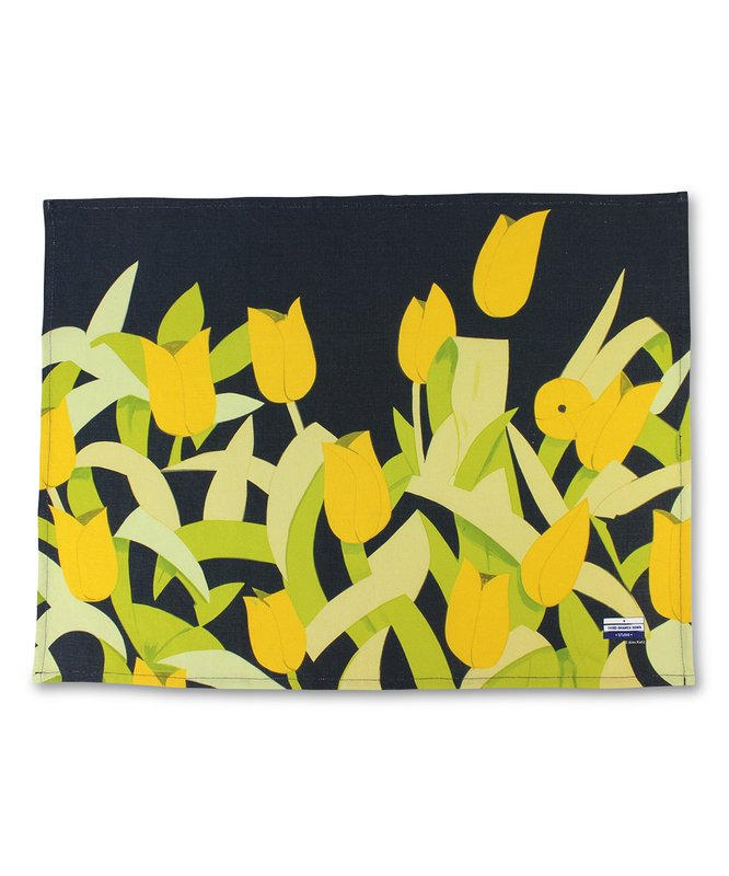 by alex_katz - Tulips Linen Tea Towel