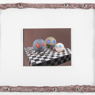Nation Orbs in their Zone in Painted Muscle Frame art for sale